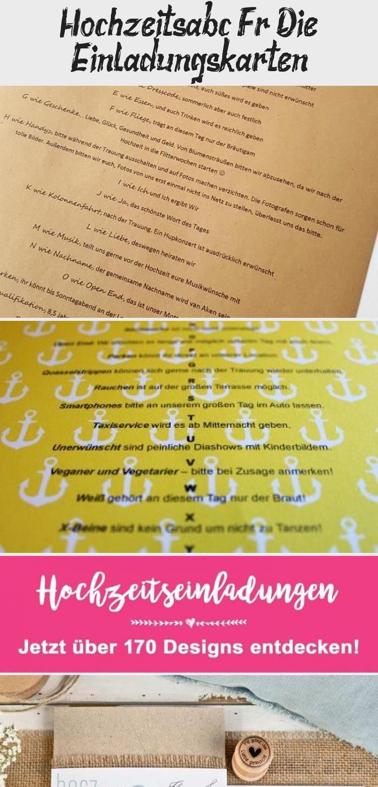 Hochzeits Abc Fur Die Einladungskarten Foto Sonja Schulz Ideenfurdiehochzeit Router App