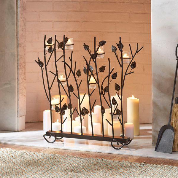 Fireplace Screen With Candle Holder Wrought Iron Spyglass Furnishings Http Www Amazon Com Dp B000w Wrought Iron Fireplace Screen Fireplace Fireplace Screen