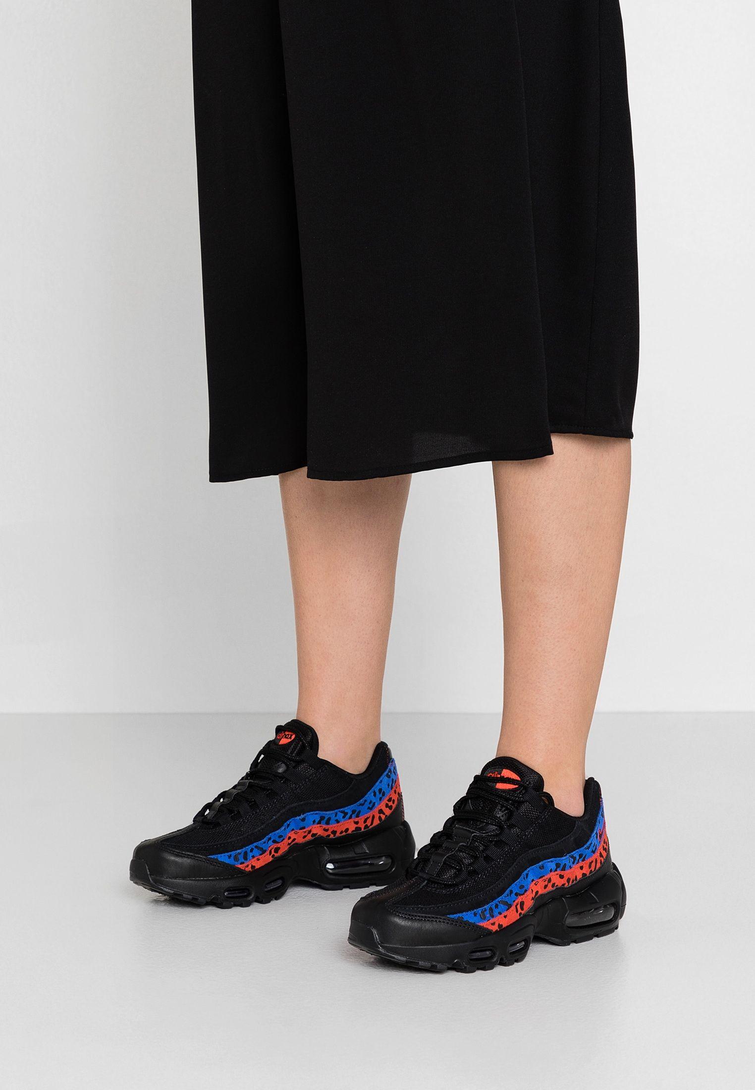 AIR MAX 95 - Baskets basses - black/habanero red/racer blue ...
