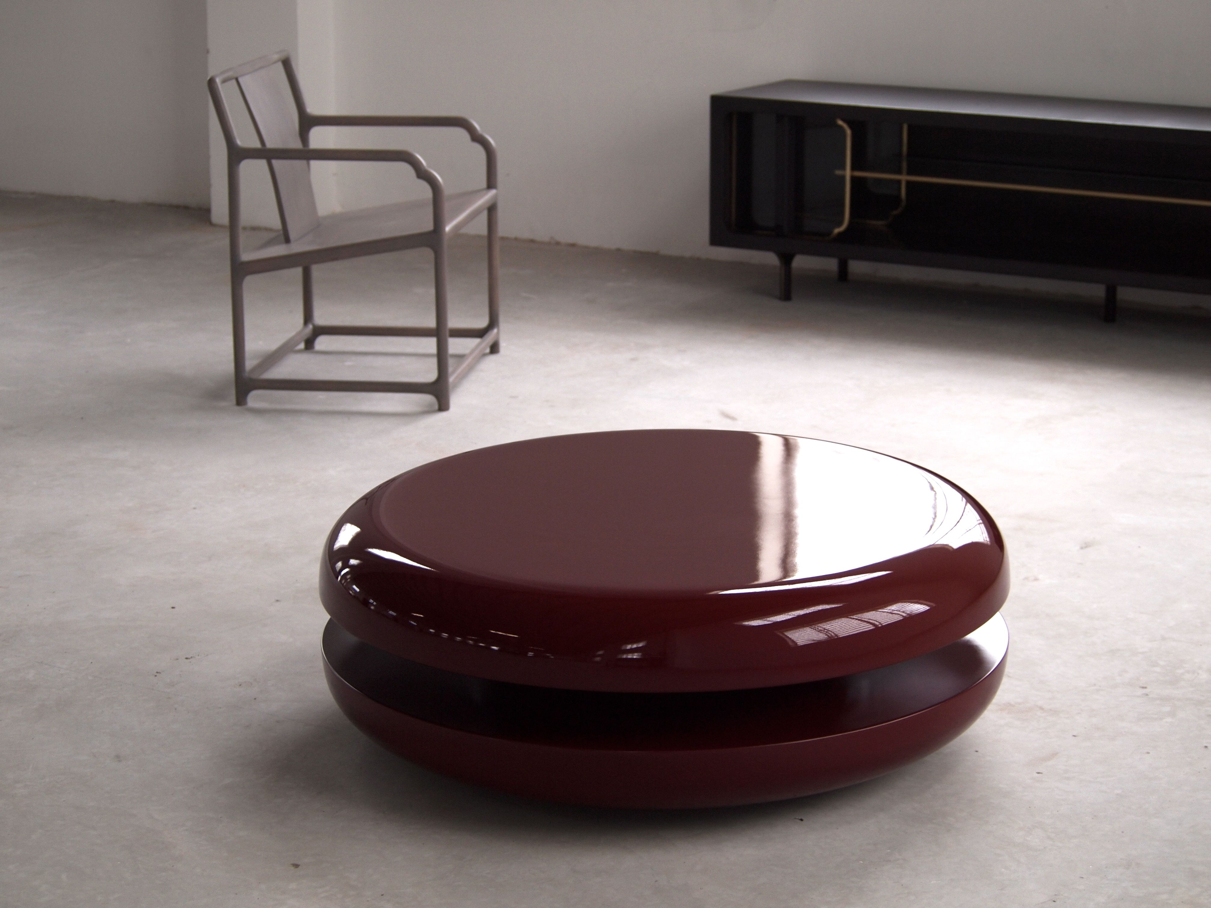Akar de Nissim s Coffee Table MACARON made with lacquered solid