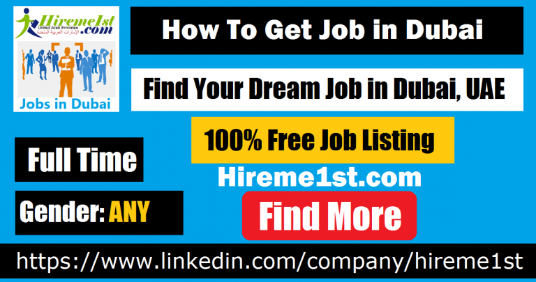 How to get a job in dubai for freshers 2019 Dubai, Job