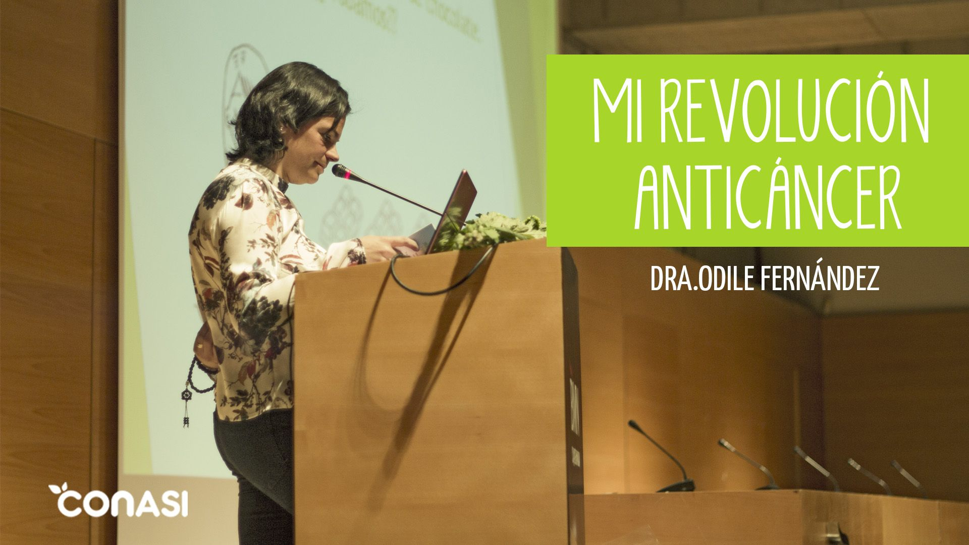"""La semana pasada Conasi acudió a la presentación del nuevo libro de la Dra.Odile Fernández, """"Mi revolución anticáncer"""". ¡Mira el vídeo de la presentación! https://www.youtube.com/watch?v=53h7VLBmKCY"""