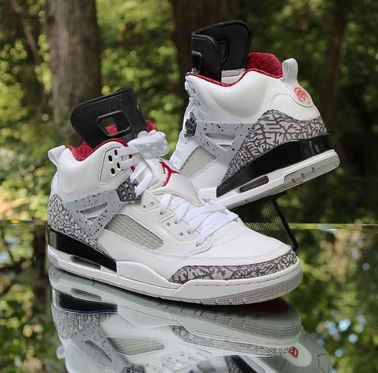 fab8e88346e Jordan Spizike White Cement Grey Varsity Red 315371-122 Men s Size 11   Jordan  BasketballShoes