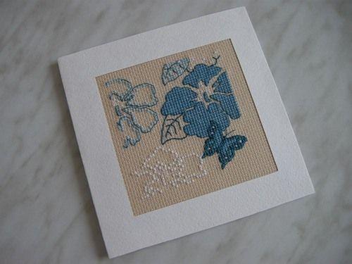 Мастер-класс вышитой открытки, открытки своими руками