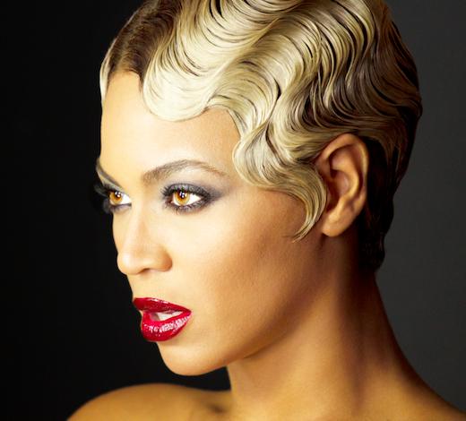 Music superstar Beyoncé's retro-modern take on fingerwaves ...
