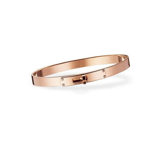 bf1c491c8f9 www.hermes.com Kelly Bracelet PM in pink gold and white diamonds (0