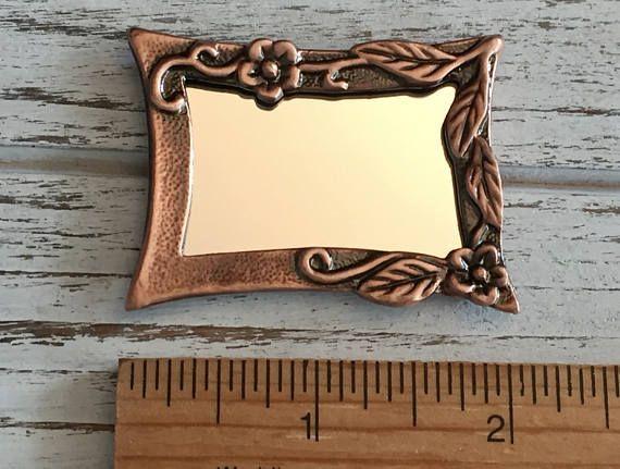 SALE Miniature Copper Wall Mirror Antique Look Copper