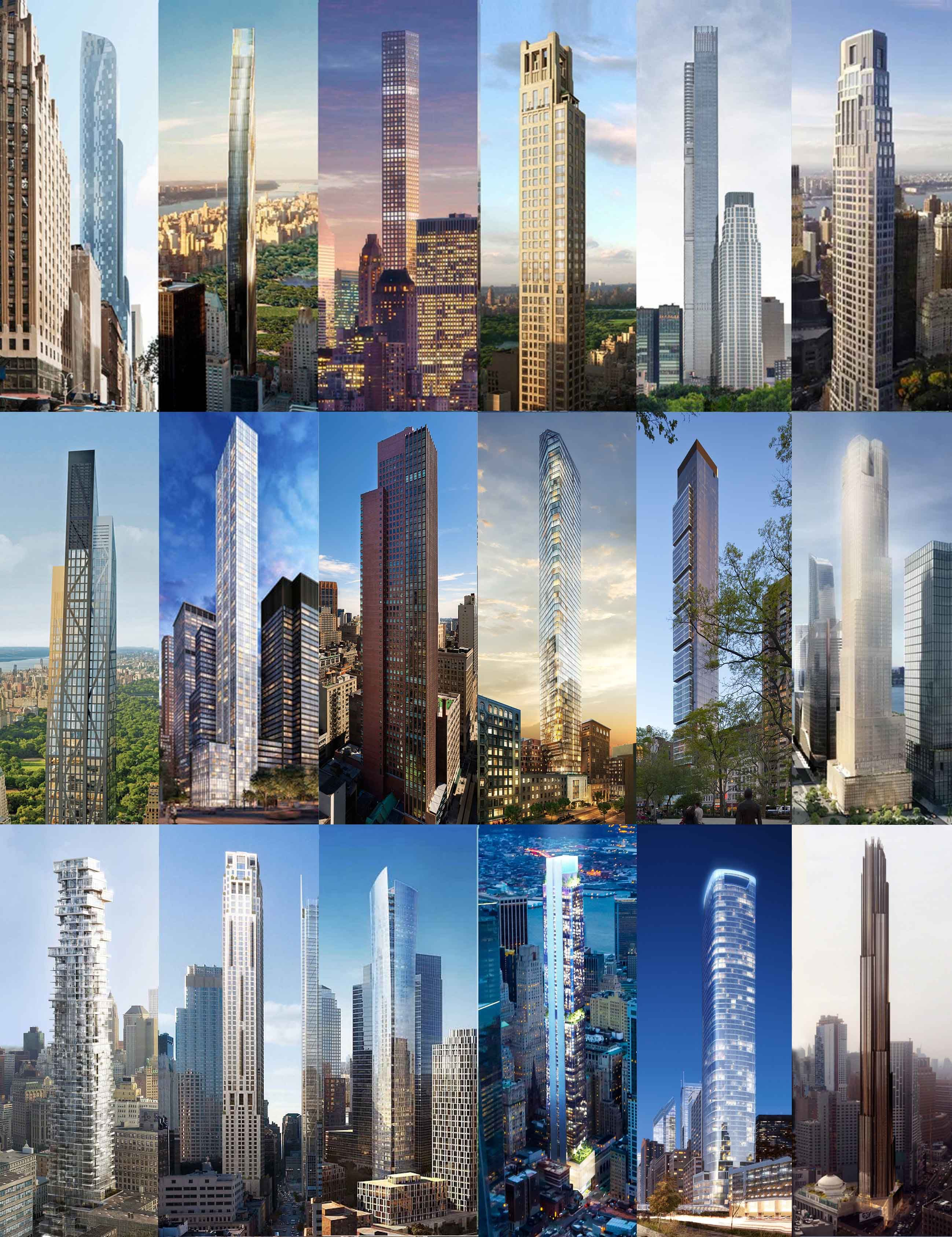 How Nyc S Super Skinny Skyscrapers Stack Up Next To The