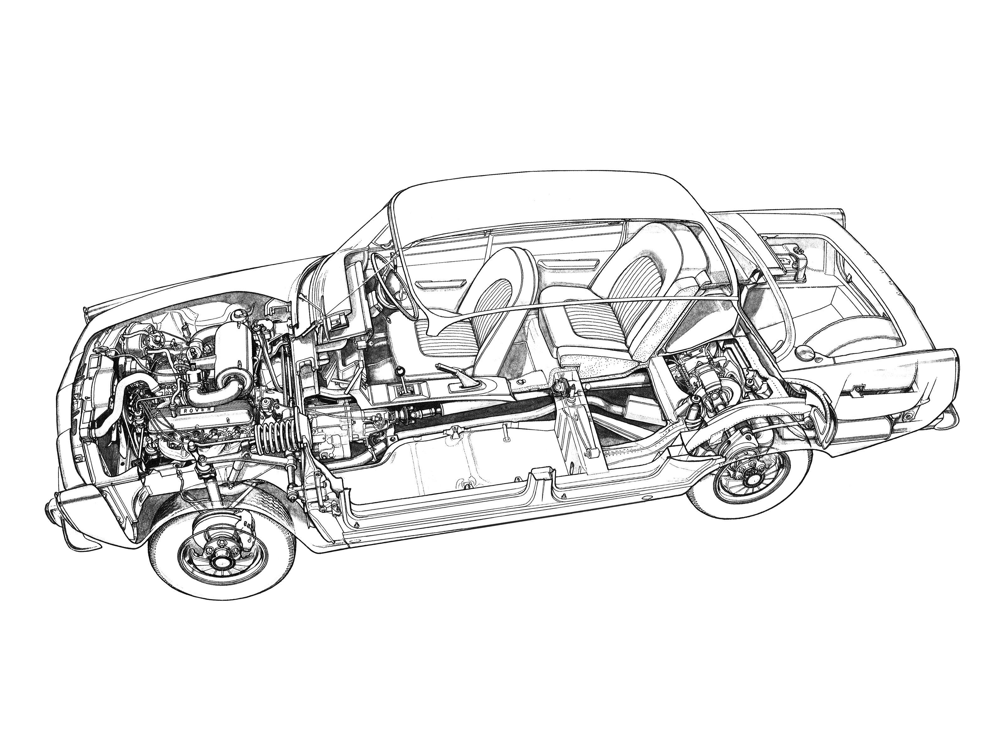 70 Rover V8 P6