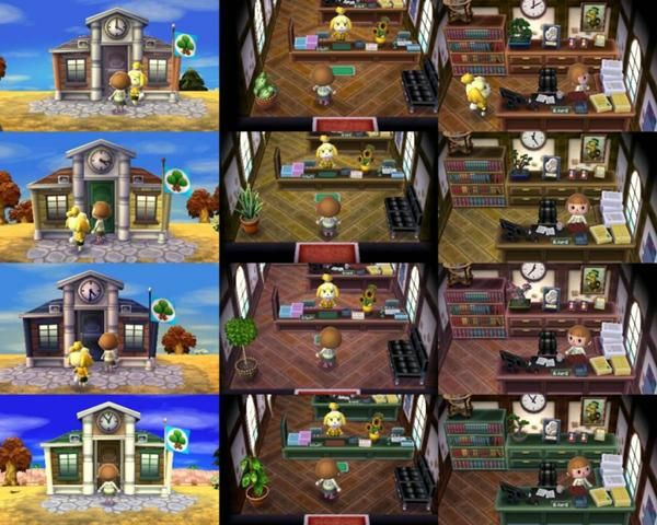Town Halls You Get One Of These In The Beginning Of The Game Animal Crossing Train Station Town Hall