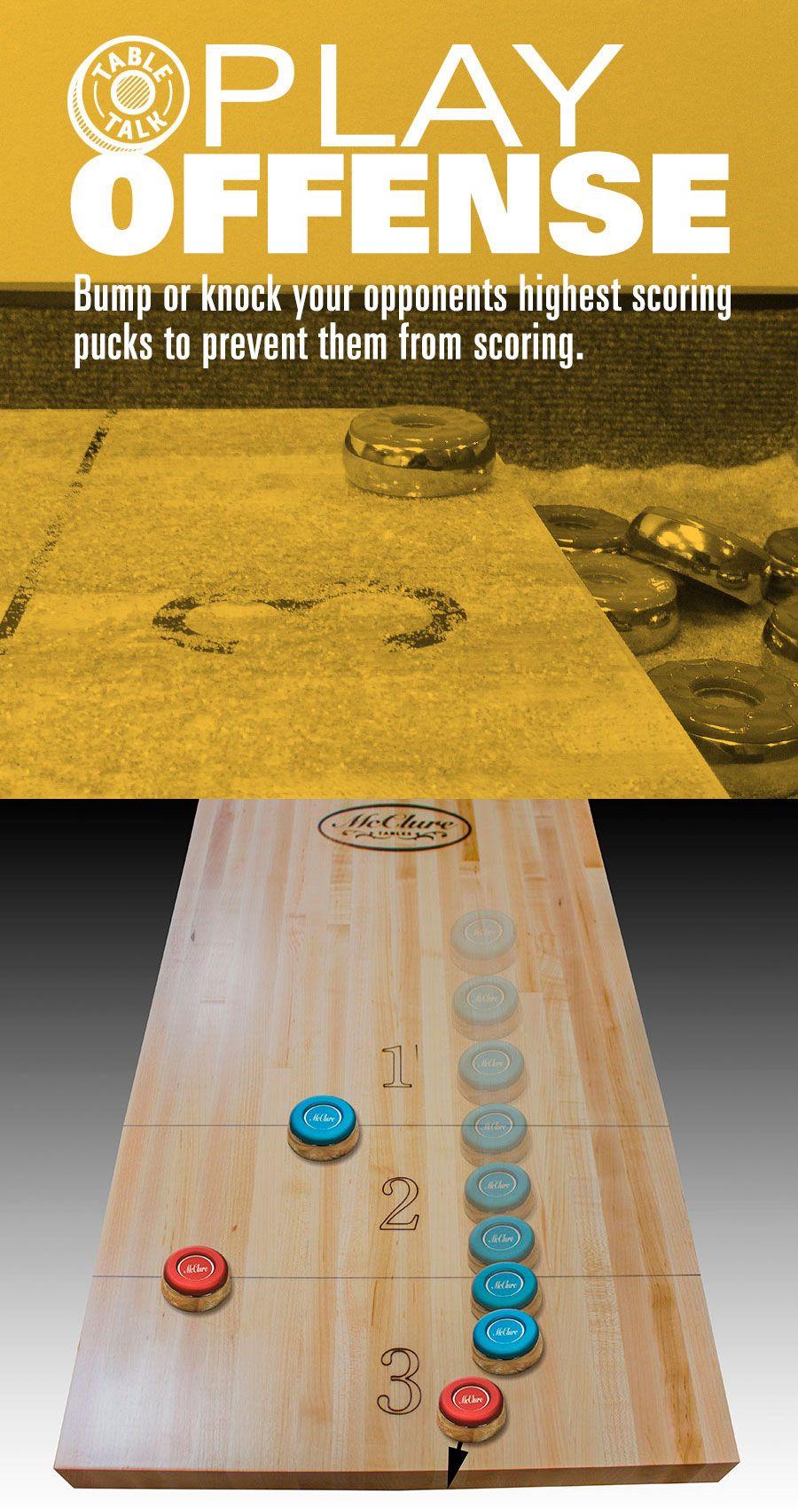 How to play offense... Shuffleboard games, Shuffleboard