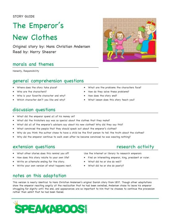 Lesson Plans The Emperors New Clothes – Lesson Plan Worksheets