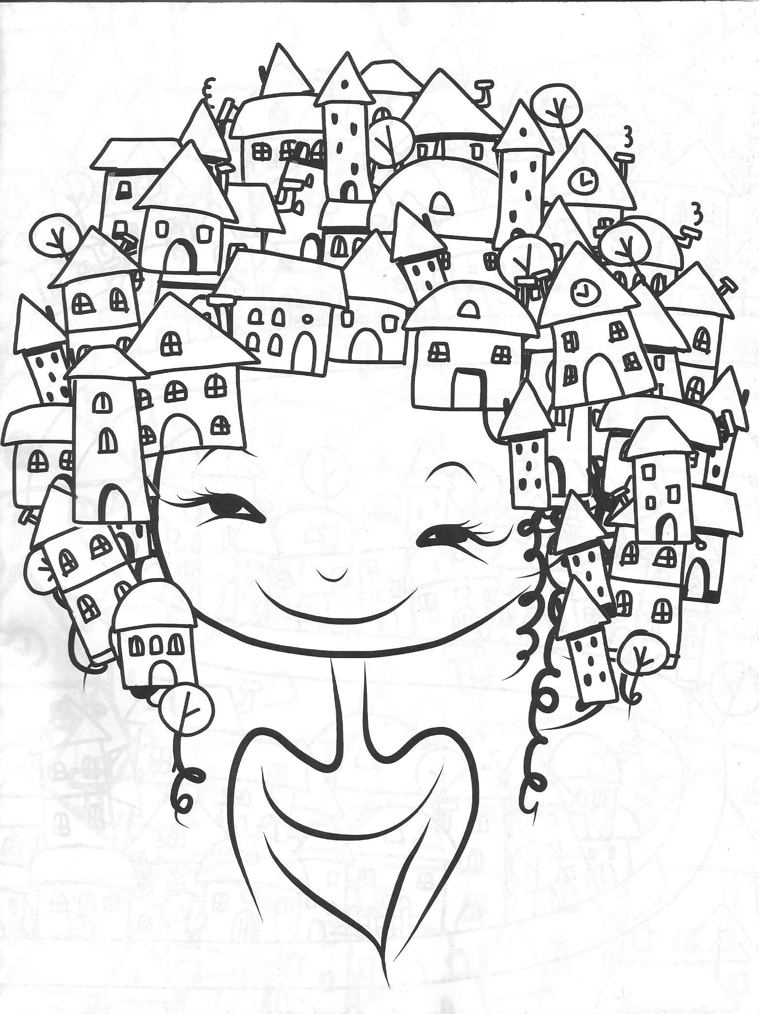Vida Simples Cidade Dos Sonhos Adult Coloring Pages Paginas
