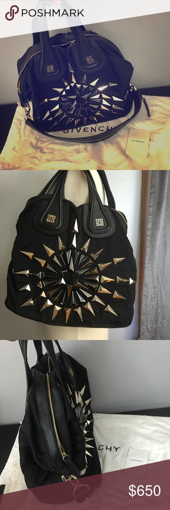 454ba9db03 Authentic Givenchy Nightingale studded Rare studded sunburst nightingale  nylon satchel