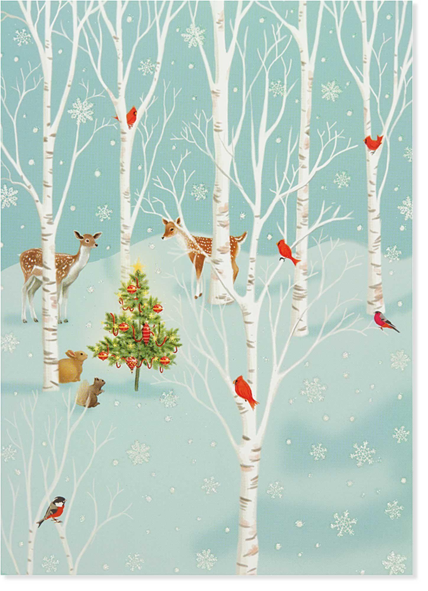 Enchanted Glade Large Boxed Holiday Cards (Christmas Cards, Holiday ...