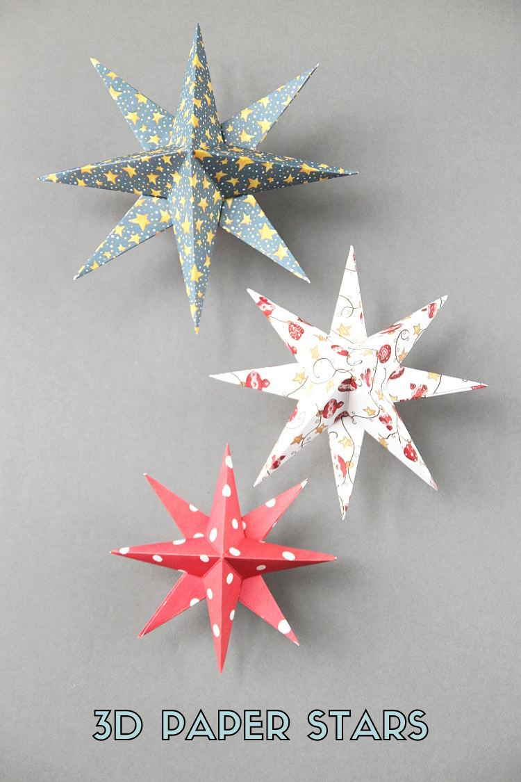 3d Paper Star Christmas Decorations Gathering Beauty In 2020 Christmas Paper Crafts Diy Christmas Paper Diy Christmas Star