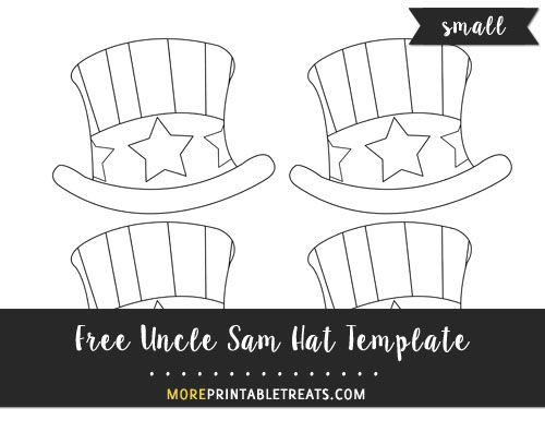 free hand drawn uncle sam hat template small preschool patriotic