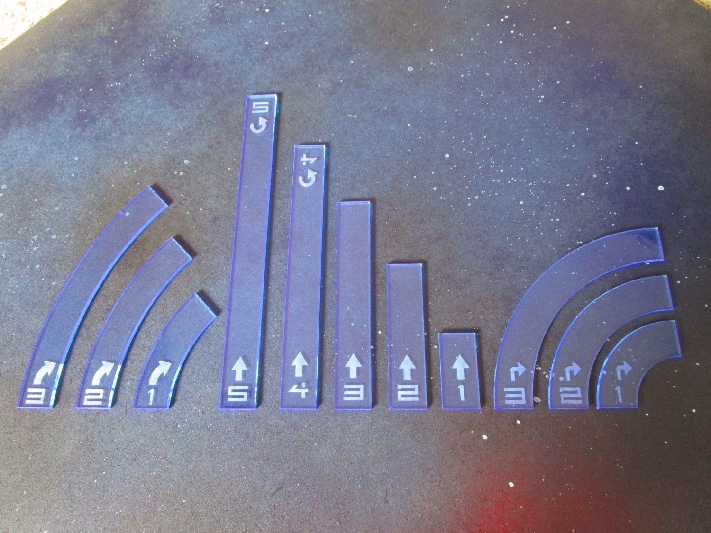 X Wing Maneuver Templates | Star Wars X Wing Game Maneuver Movement Templates Basic Set Laser