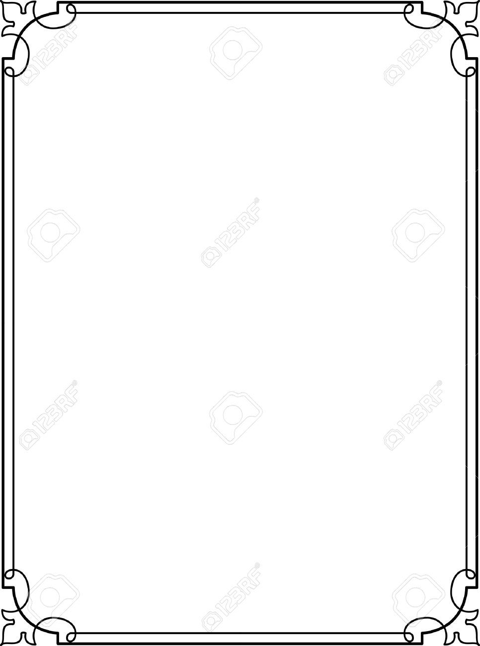 Simple Lines Border Frame Vector Design Page Borders Design Page Borders Graphic Design Tutorials Photoshop