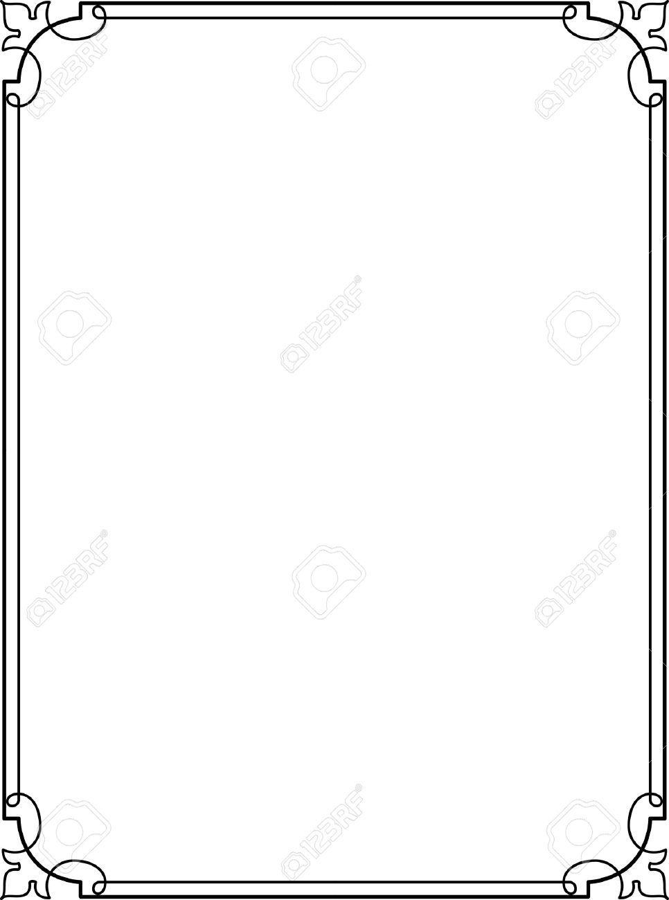 simple lines border frame vector design royalty free