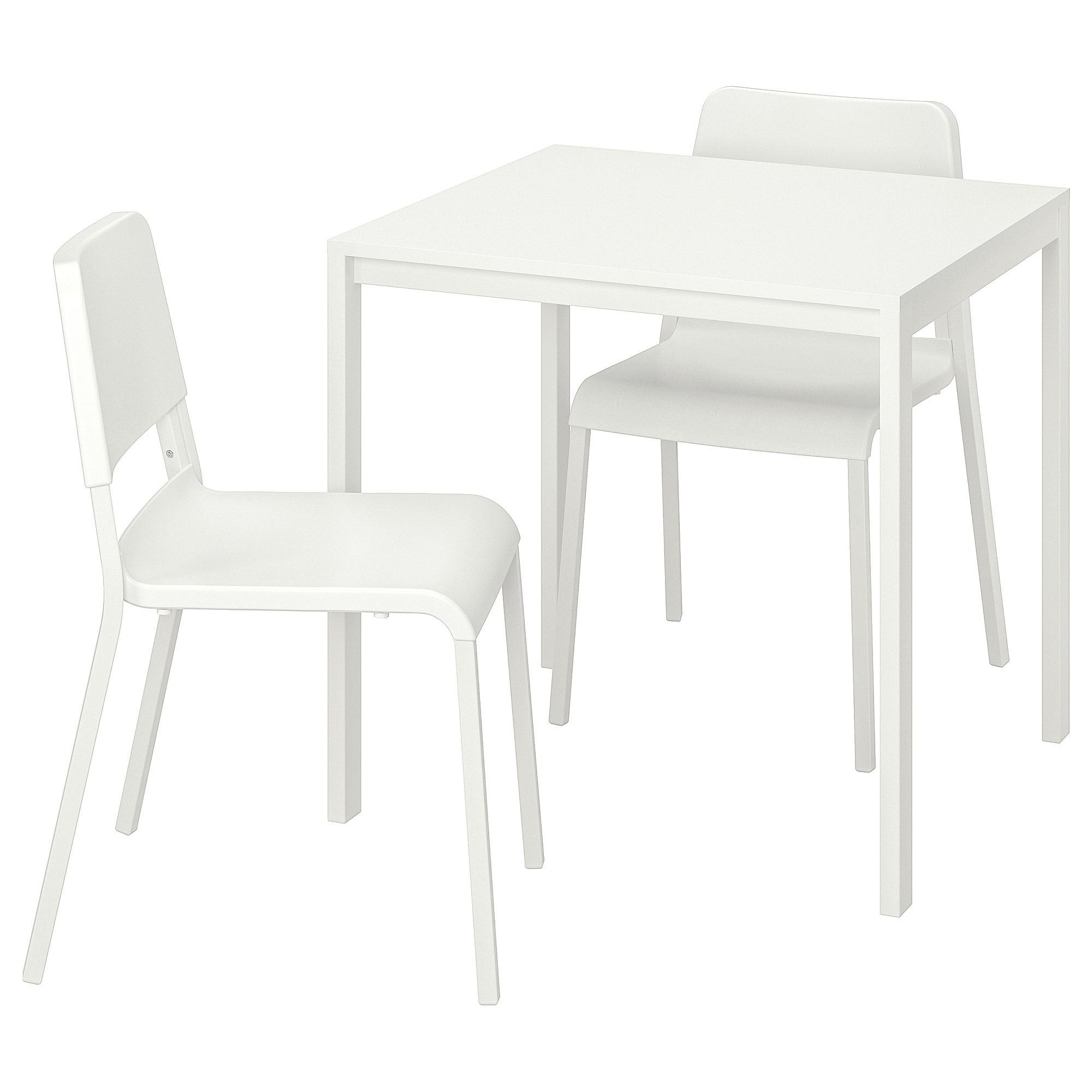 MELLTORP / TEODORES Table and 7 chairs, white, white - IKEA in