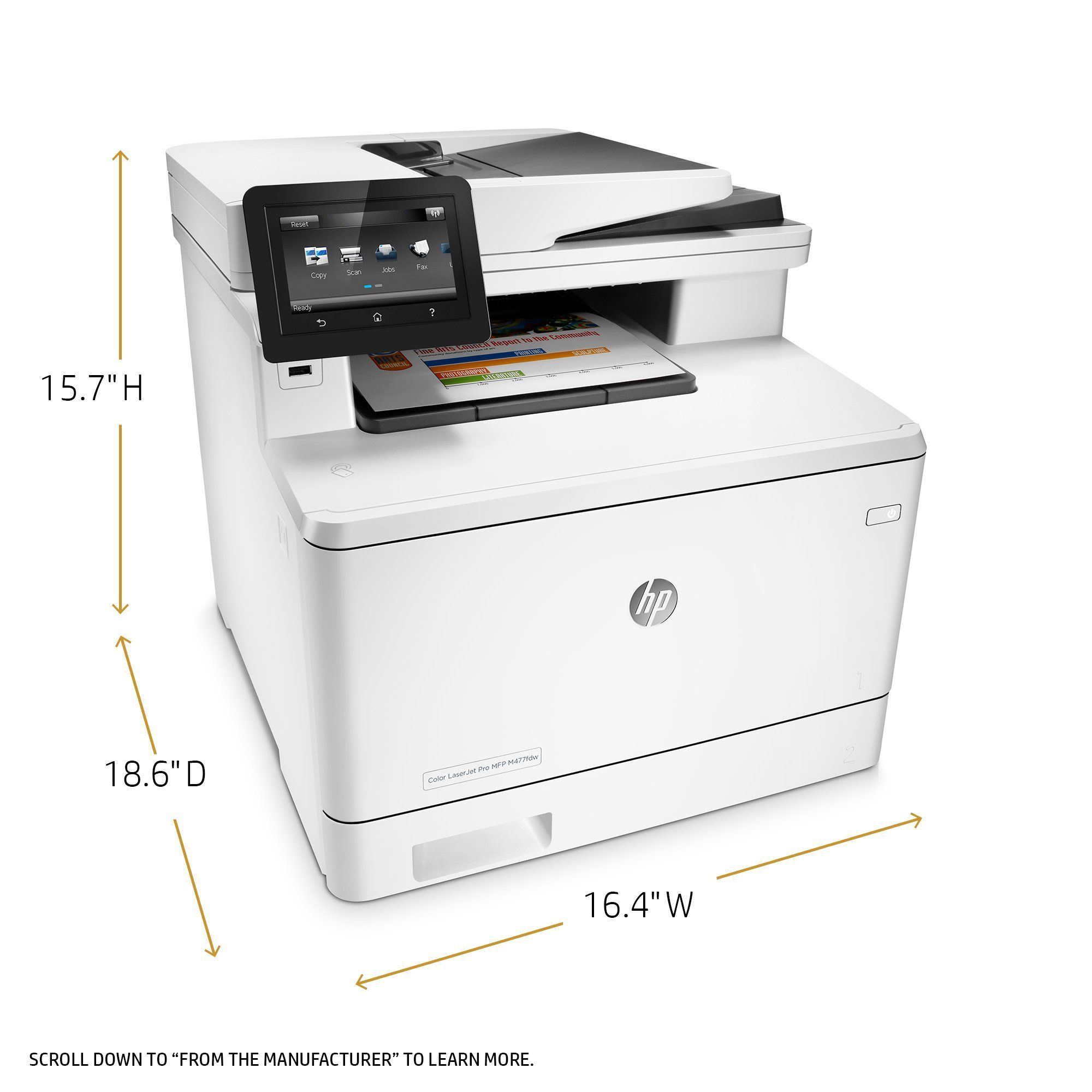 Hp Laserjet Pro M477fdw Multifunction Wireless Color Laser Printer With Duplex Printing Cf379a Certified Refurbished Vinyl Printer Printer Cutter Decal Printer