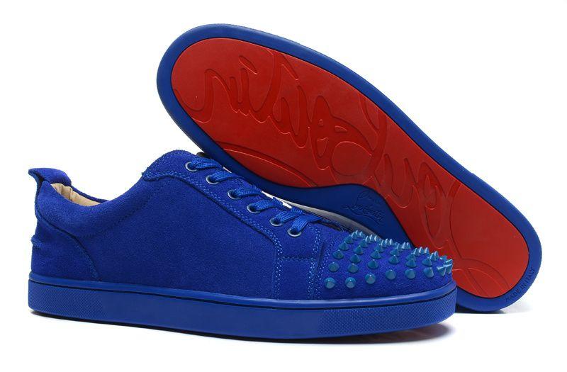 Christian Louboutin Blue Matte Blue Spike Sneakers Like \u0026 Repin. Noelito  Flow. Noel http