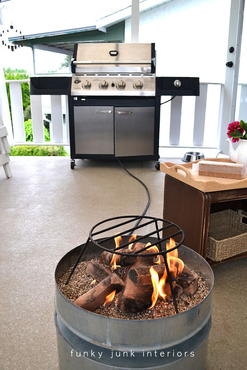 Propane Fire Pit From Funky Junk Interiors For The Home