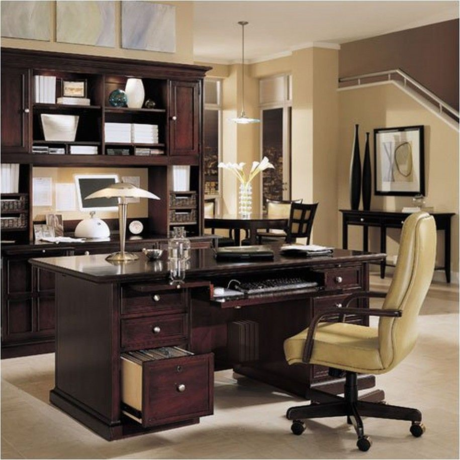 Interesting Awesome Office Decorating Ideas : Simple Design Transitional Bedroom Office Combo Decorating Ideas