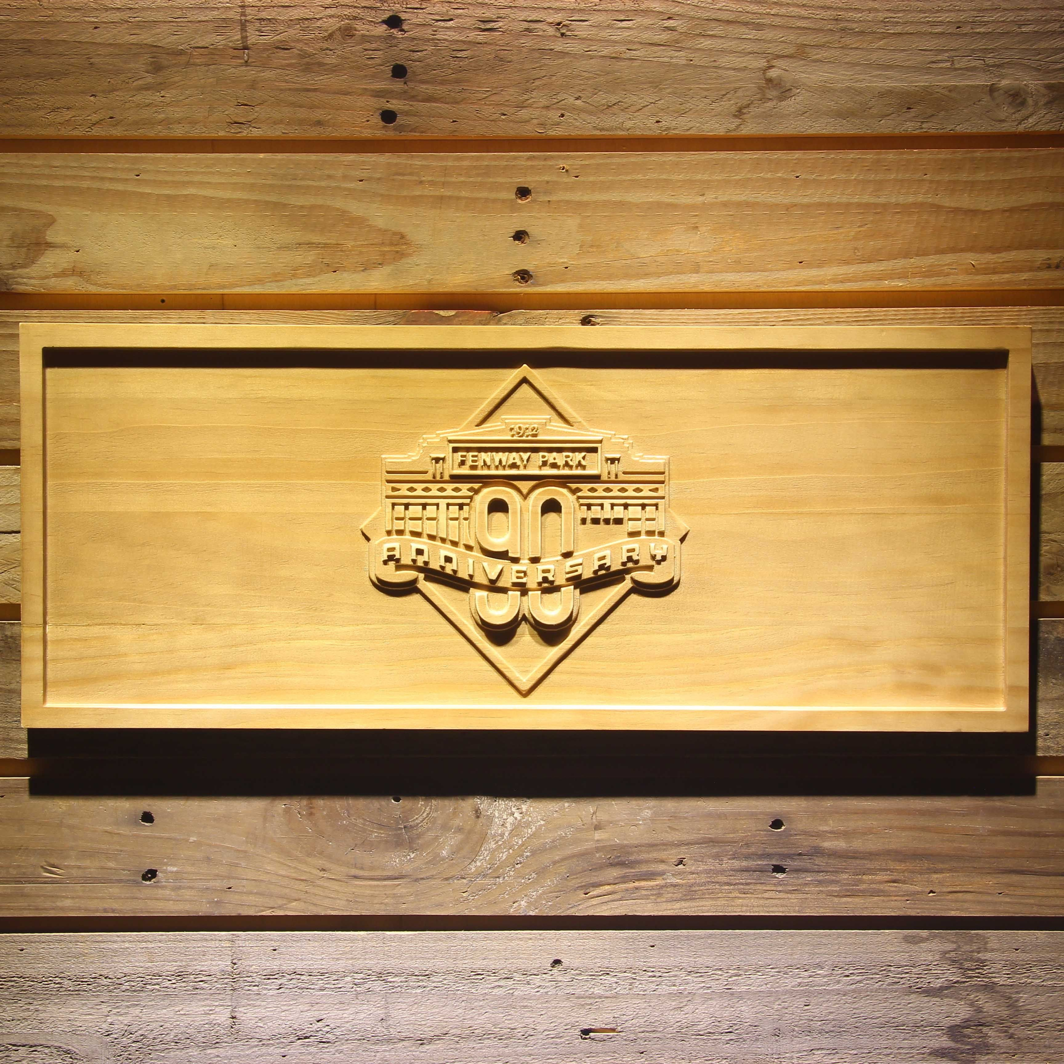 Boston Red Sox Fenway Park 90th Anniversary Wooden Sign - Legacy ...