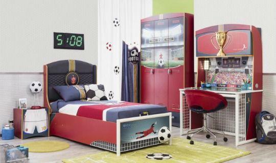Habitacion infantil futbol 1 decoracion pinterest for Ver habitaciones para ninos