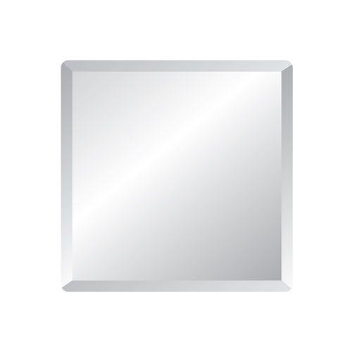 Regency 30 Inch Square Beveled Edge Mirror Spancraft Frameless Mirrors Home Decor