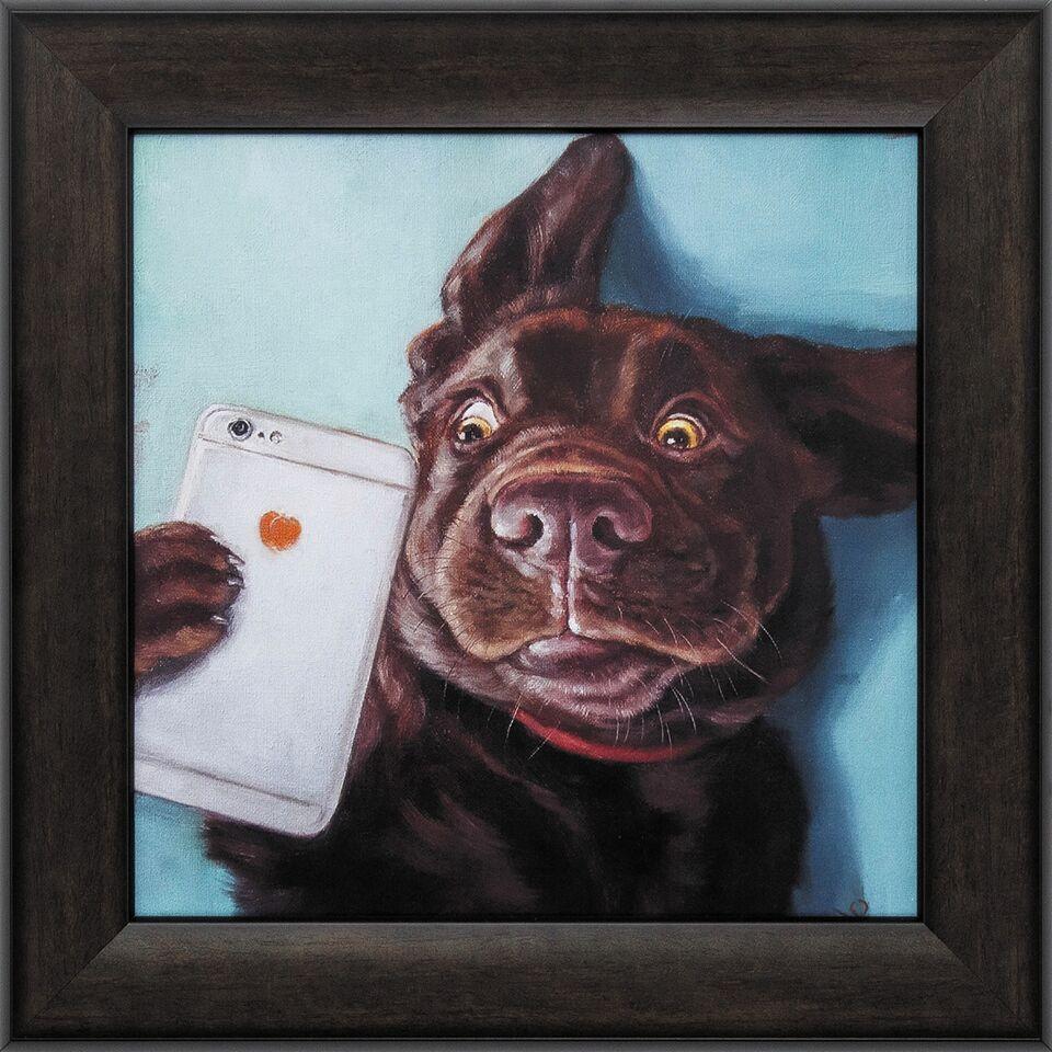 Dog Selfie Canvas Prints Dog Selfie Funky Art