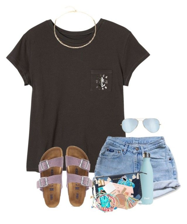 """Went on a pretty waterfall/flume hike yesterday!!! Pics in items!!"" by zoejm ❤ liked on Polyvore featuring RVCA, Levi's, S'well, MICHAEL Michael Kors, Lilly Pulitzer, Sephora Collection, Victoria's Secret, Christian Dior, Charlotte Tilbury and Maybelline"