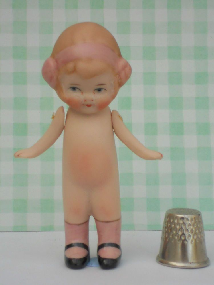 """GERMAN DOLL ANTIQUE REPRODUCTION """"ELSIE-MAY"""" PINK"""