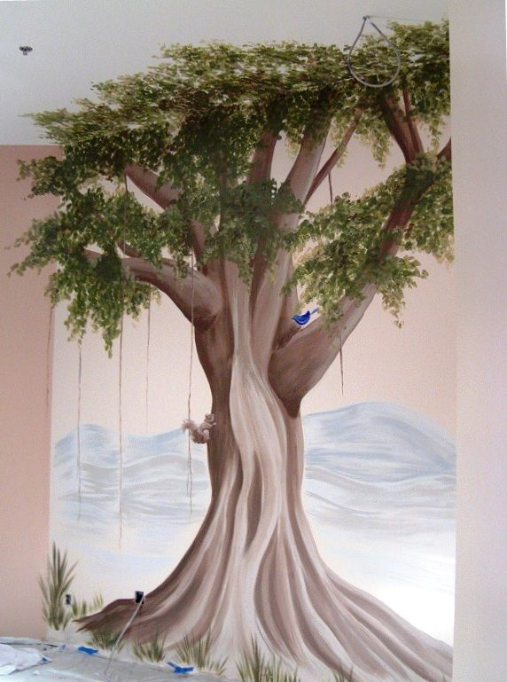 Banyan Tree Mural For Interior Of New Indian Restaurant