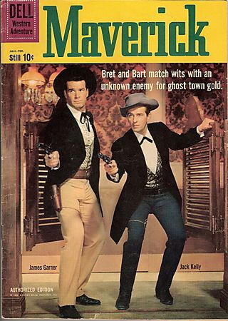 Maverick is a western television series with comedic overtones created by Roy Huggins. The show ran from September 22, 1957 to July 8, 1962 on ABC and stars James Garner as Bret Maverick, a cagey, articulate cardshark.