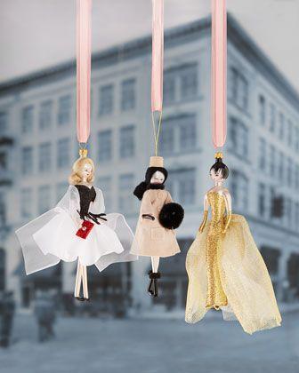 Fashionista Christmas Ornaments by De Carlini at Horchow. | de ...
