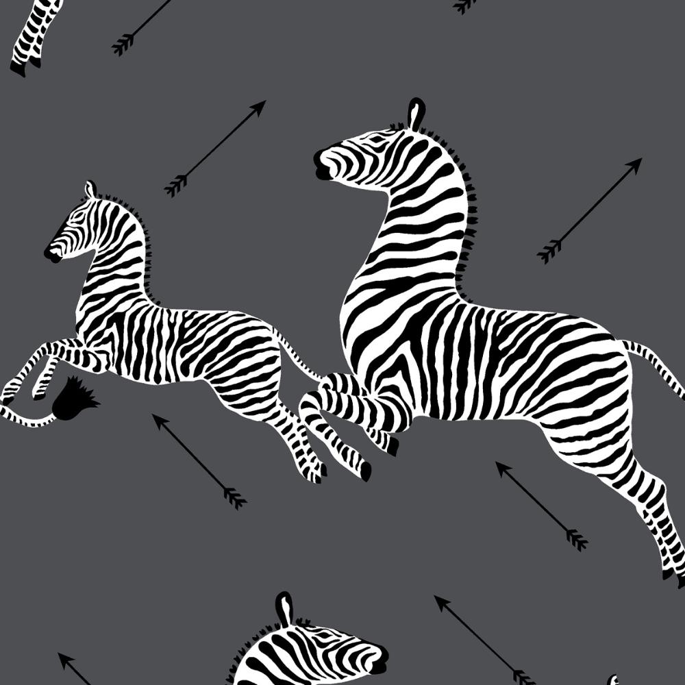 Peel and Stick Wallpaper Roll Slate Zebra Wallpaper
