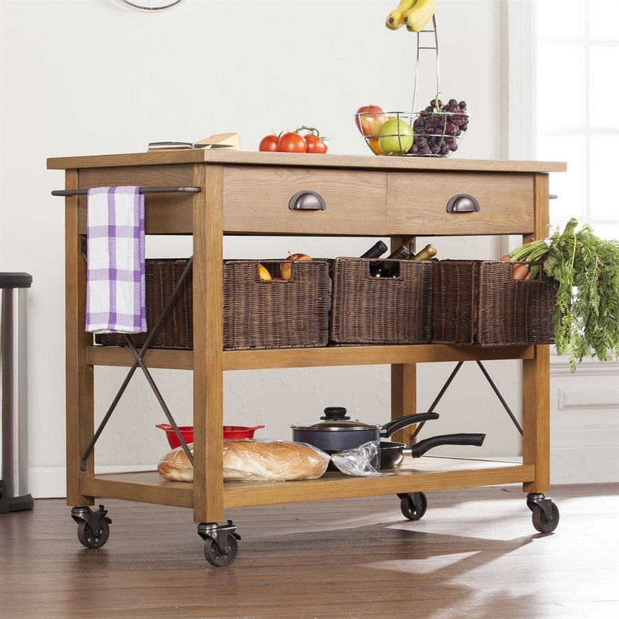 Kitchen, Lowes Kitchen Cart Kitchen Island On Wheels Movable Wooden Kitchen  Cart With Casters Drawer Shelf Wicker Storage Box Steel Towel Holder:  Amusing ...