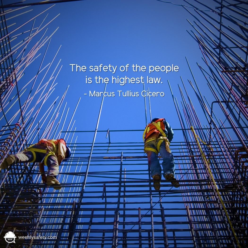 The safety of the people is the highest law. Marcus