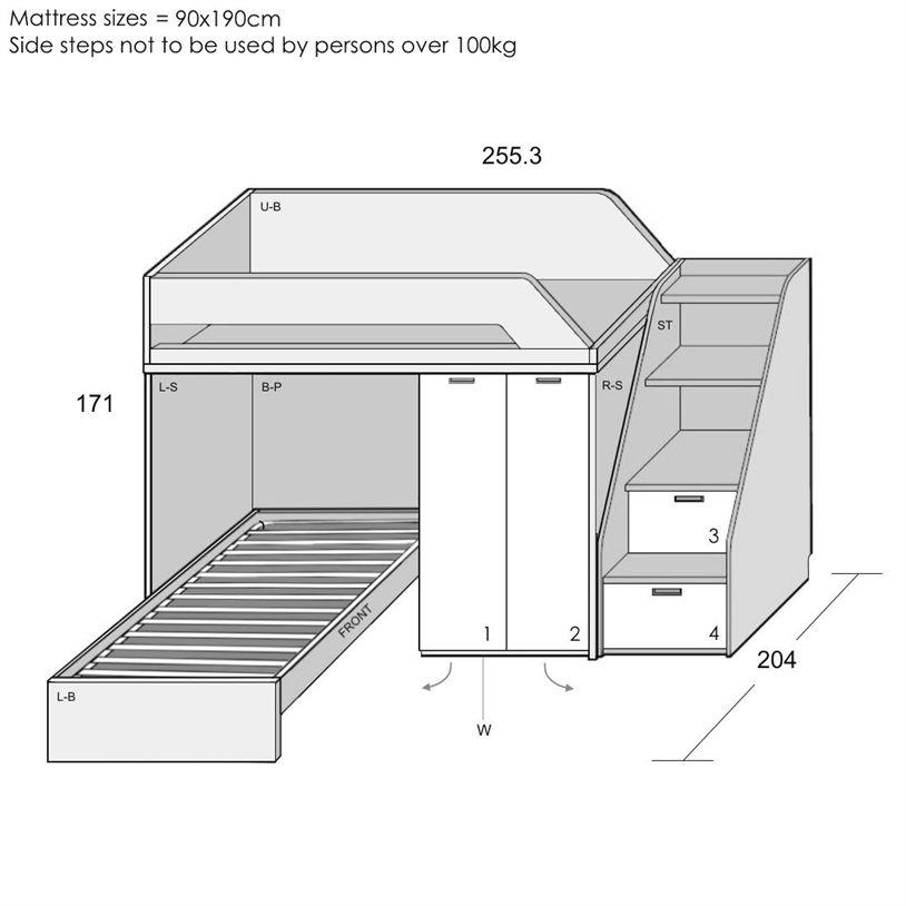Corner Bunk Bed L Shaped Bunk Bed More Beddesign Bunk Bed Plans Bunk Beds Corner Bunk Beds