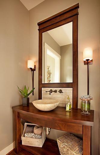 Dise os de muebles y lavabos para decorar tu hogar for Repisas para banos pequenos