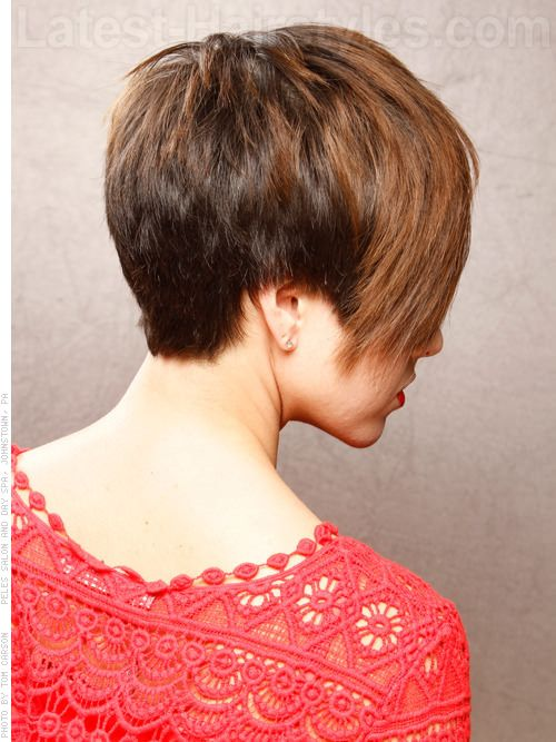 Very short edgy hairstyles for women back view