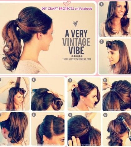 Hair Style Category Fashion Diva Design Fashion Diva Design Hair Styles Ponytail Hairstyles Easy Vintage Ponytail