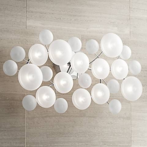 Possini euro lilypad 30 wide etched glass bath light bath light possini euro lilypad 30 wide etched glass bath light 10574 lamps plus aloadofball Image collections