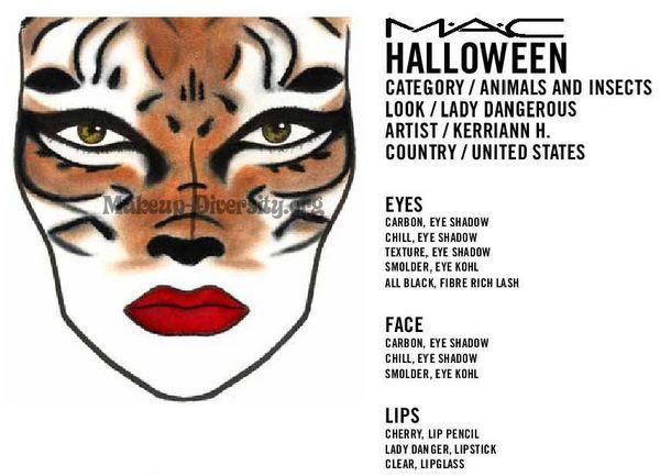 Mac Halloween Makeup Ideas | MAC Halloween Face Charts: Part Three ...