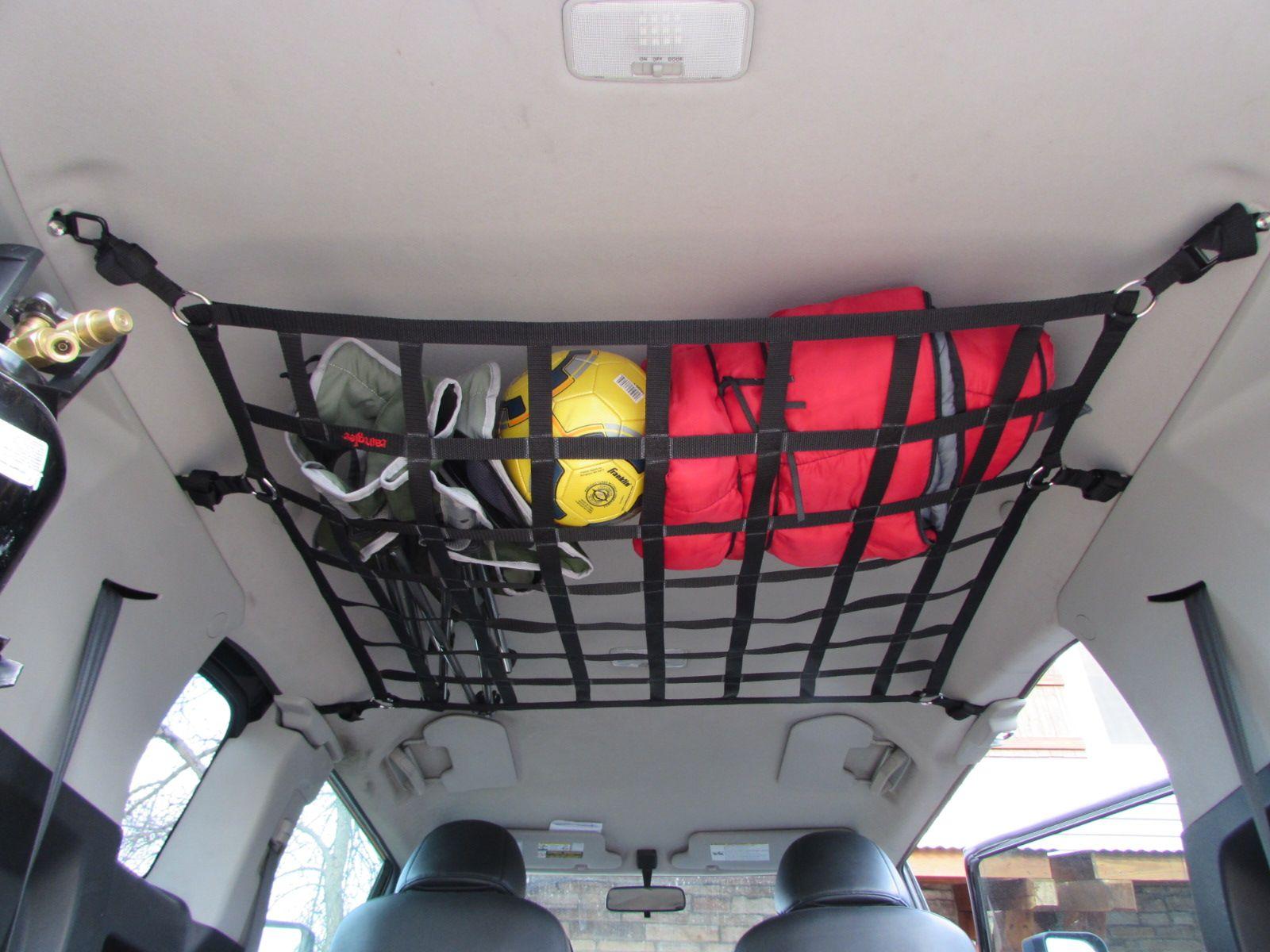 fj cruiser ceiling  front seat barrier net toyotagear rainglernets httpwwwrainglercom