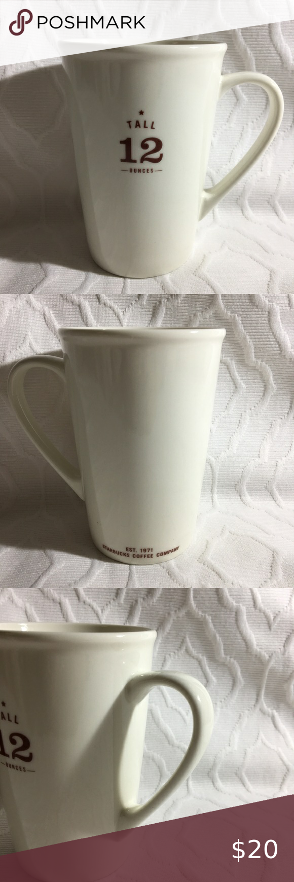 STARBUCKS Coffee Cups 2010 TALL 12 Ounces Mug in 2020