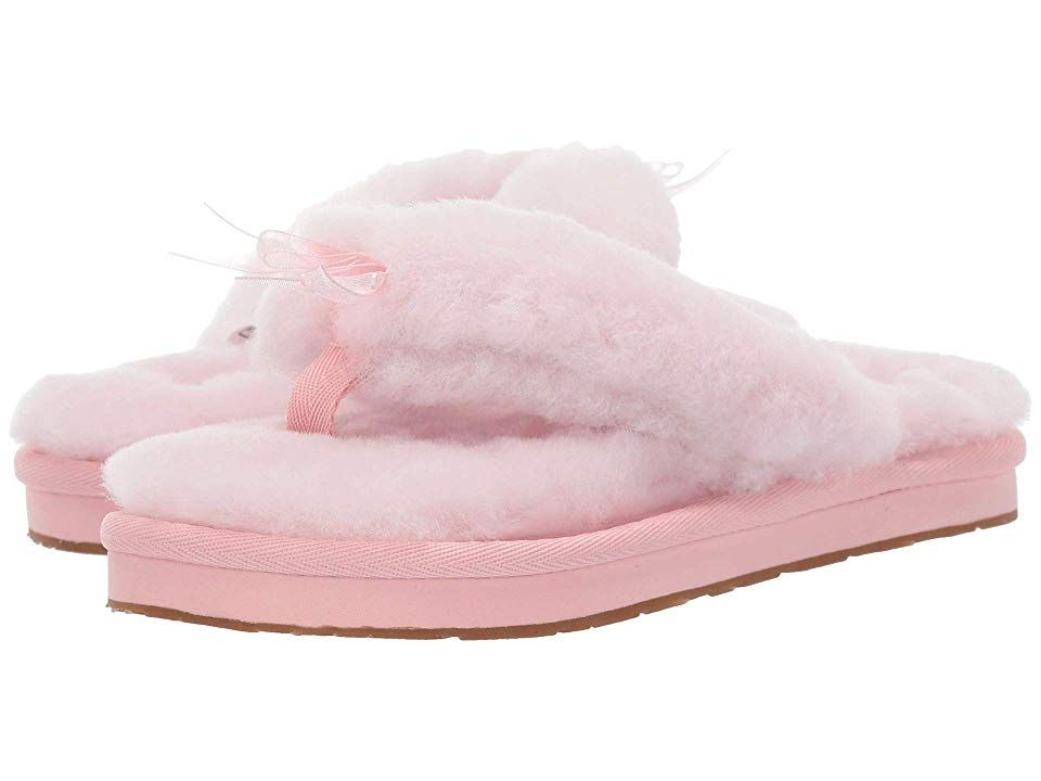 22708a47d UGG Fluff Flip Flop III (Seashell Pink) Women s Slippers. Slip into comfort  with